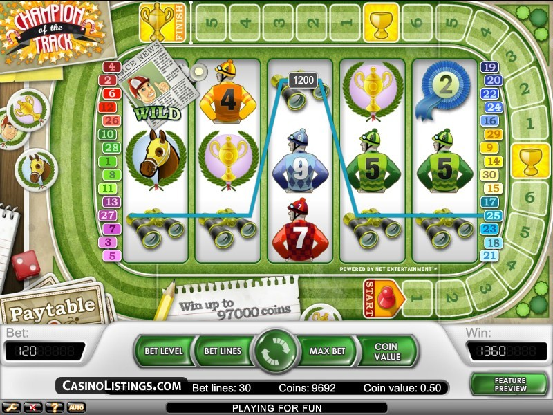 la slot machine net ent champion of the track
